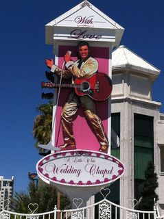 Elvis sign at the little white wedding chapel